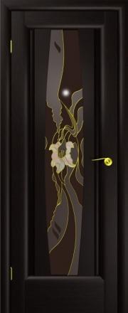 Дверь Лилия Венге (витраж)