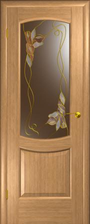 Дверь Палермо Светлый дуб (витраж Венеция)