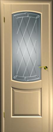 Дверь Палермо Беленый дуб (гравировка)