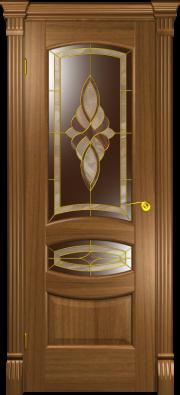 Дверь Юлия американский орех (витраж)