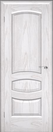 Дверь Юлия ясень белый (Серебро) (глухое полотно)
