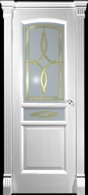 Дверь Натали Ясень белый (витраж)
