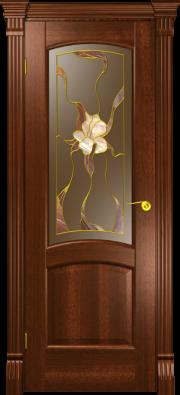 Дверь Севилья Красное дерево (витраж)