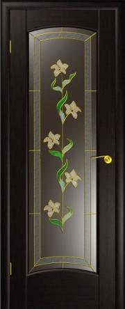 Дверь Верона Венге (витраж)